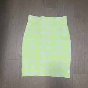 Neon lime green skirt